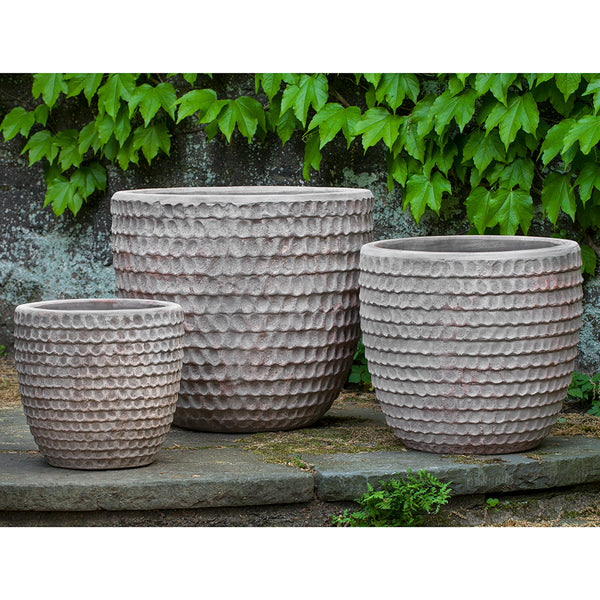 Dimple Indoor/Outdoor Planters - Antique Terra Cotta (Set of 3)