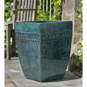 Square Borsa Planter in Indigo Rain – Set of 3
