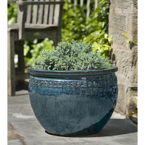 Low Borsa Planter in Indigo Rain – Set of 4