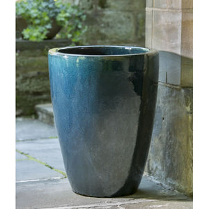 Marta Round Tapered Tall Planter in Indigo Rain - Set of 3