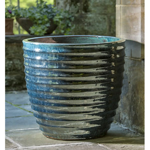 Linea Ribbed  Planter – Dark Blue (Set of 3)