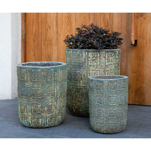 Eero Aged Tall Planter in Green Mist – Set of 3