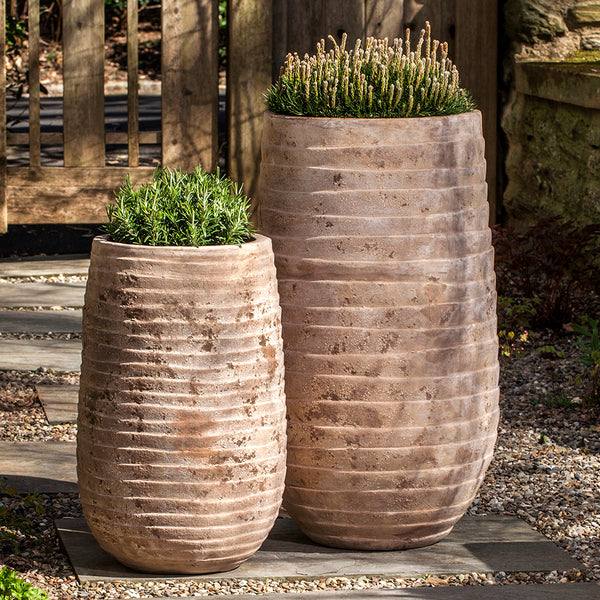 Antique Terra Cotta Planters (Set of 2)