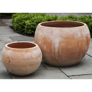 Terra Cotta Bowl Planters – Set of 2