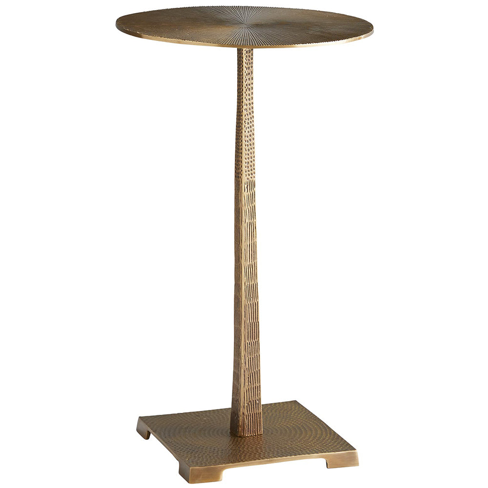 Arteriors Otelia Pedestal Accent Table – Vintage Brass