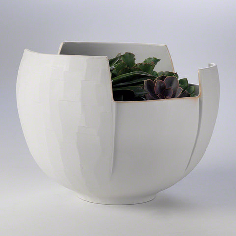 Abstract Birch Bark Porcelain Bowl