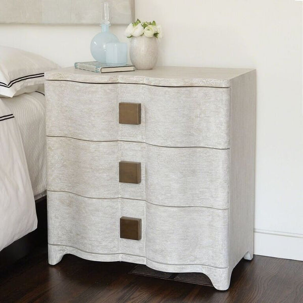 Curved Linen Nightstand