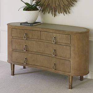 Curved 4-Door Chest - Mahogony
