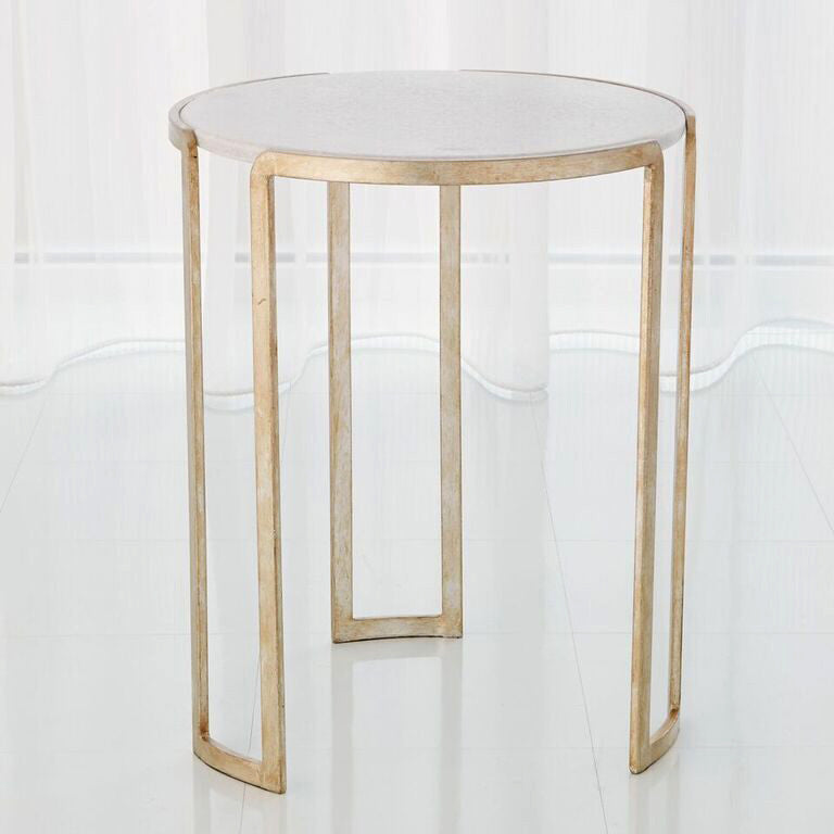 Channel Accent Table   Silver Leaf