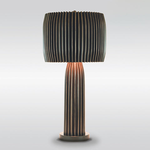 Crimp Table Lamp – Bronze