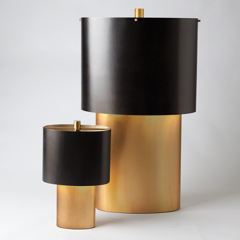 Large Oval Table Lamp   Bronze & Gold