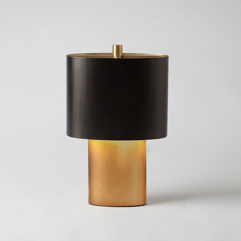 Black & Gold Oval Table Lamp – Small