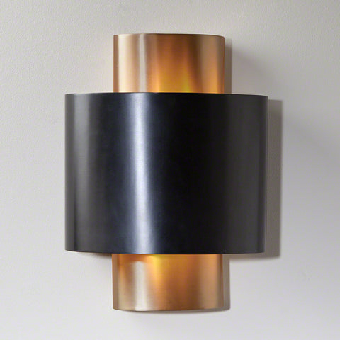 Curved Metal Wall Sconce -Bronze & Gold