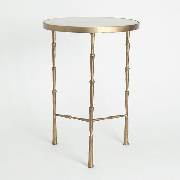 Accessorize with stylish accent tables scenario home for Round gold side table