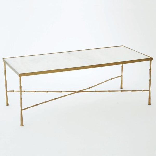 Spike Cocktail Table – Gold & Marble