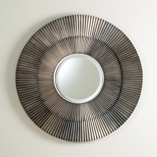 Round Crimp Mirror – Antique Nickel