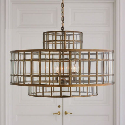 Windows Round Tiered Chandelier – Brass