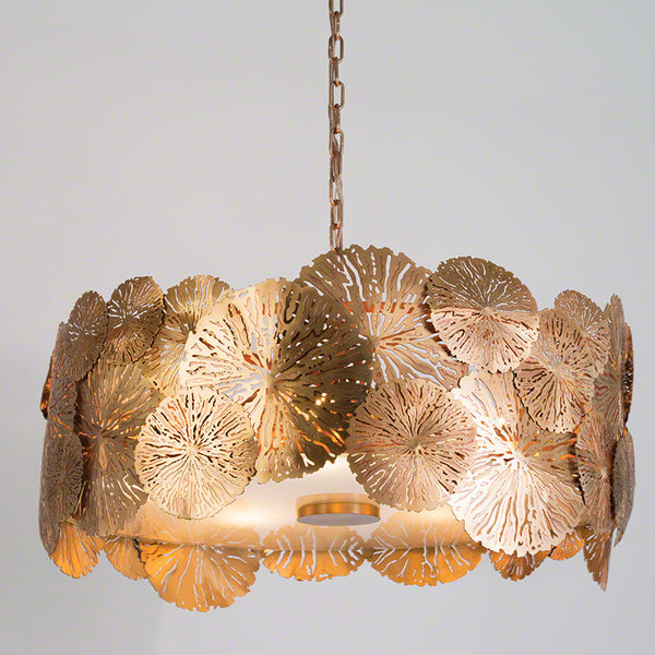 Lily Pad Pendant – Antique Brass