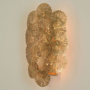 Lily Pad Wall Sconce – Antique Brass
