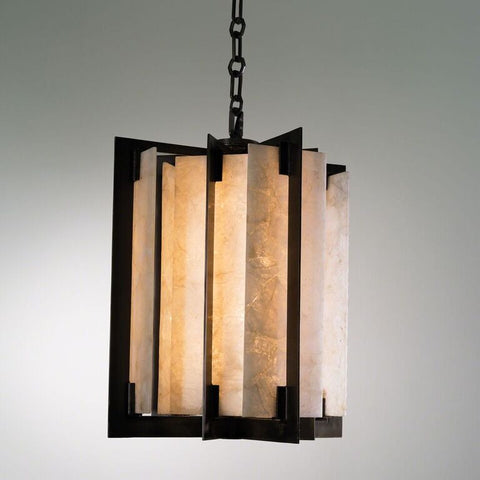Linear Quartz Pendant – Bronze