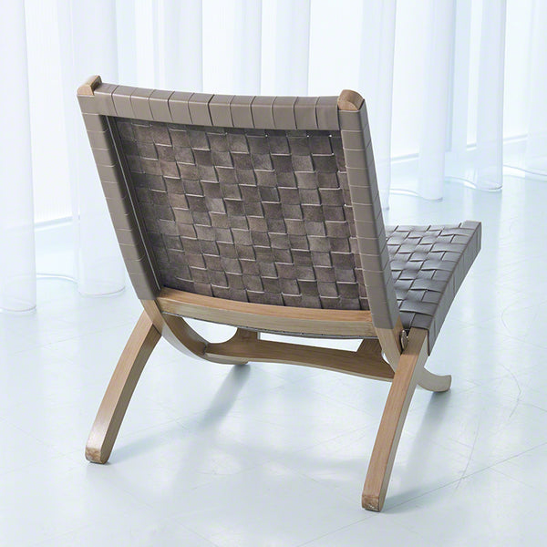 Safari Woven Leather Chair – Grey