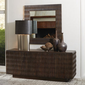 Textured 4- Door Buffet Cabinet - Walnut