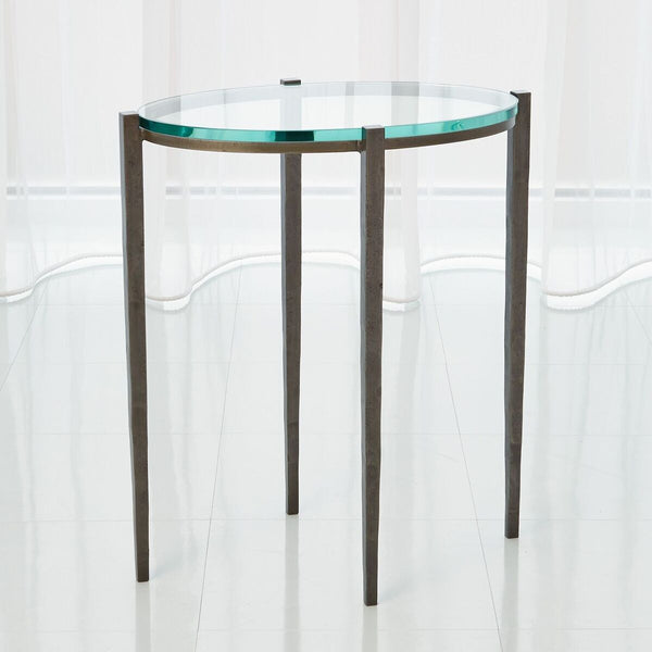 Oval Side Table - Iron