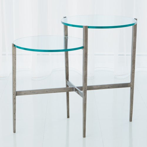 Two-Tiered Accent Table - Natural Iron