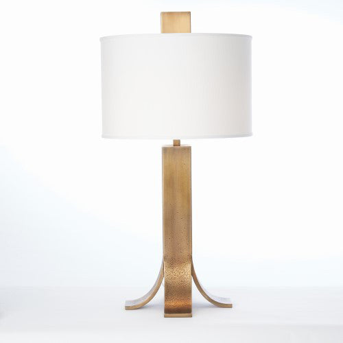 Curved Foot Table Lamp – Antique Brass