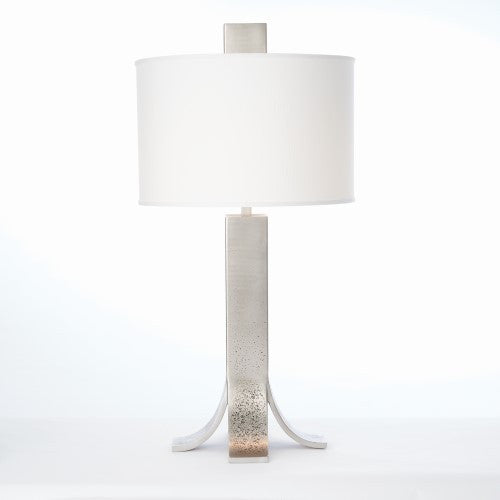 Curved Foot Table Lamp   Antique Nickel