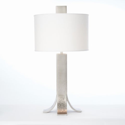 Curved Foot Table Lamp – Antique Nickel