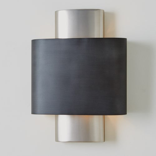 Black & Silver Oval Sconce – Hardwired