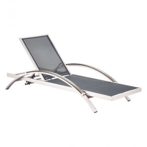 Arch Chaise Lounge Chair – Black & Aluminum
