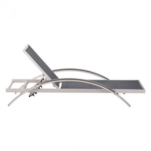 Arch Chaise Lounge Chair - Black & Aluminum