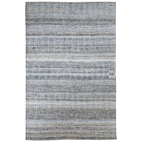 Bolivia Handwoven Birds-Eye Pattern Wool & Denim Rug – Blue