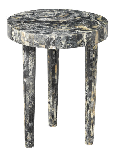Large Artemis Side Table in Black Resin