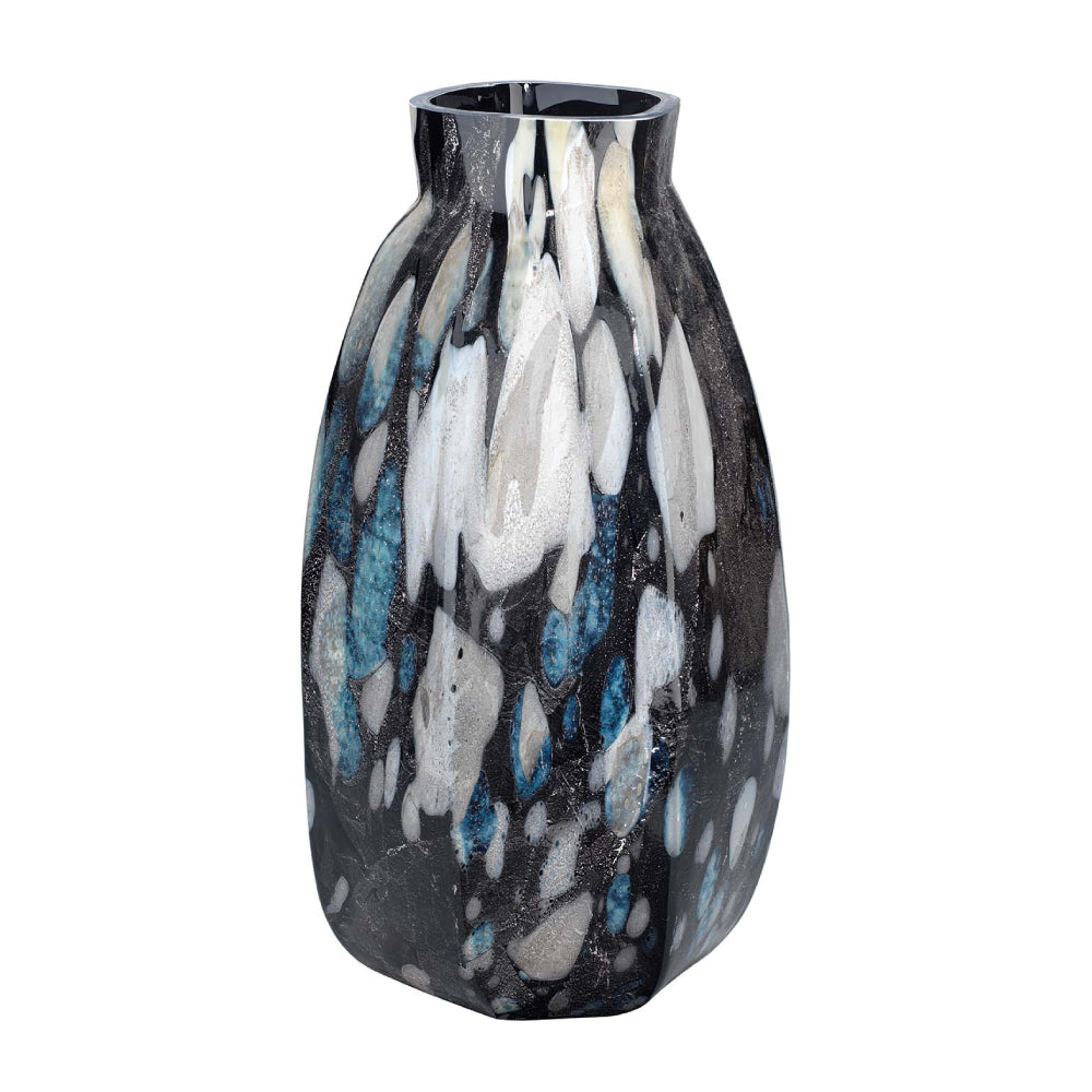 Abstract Multicolored Glass Vase – Tall