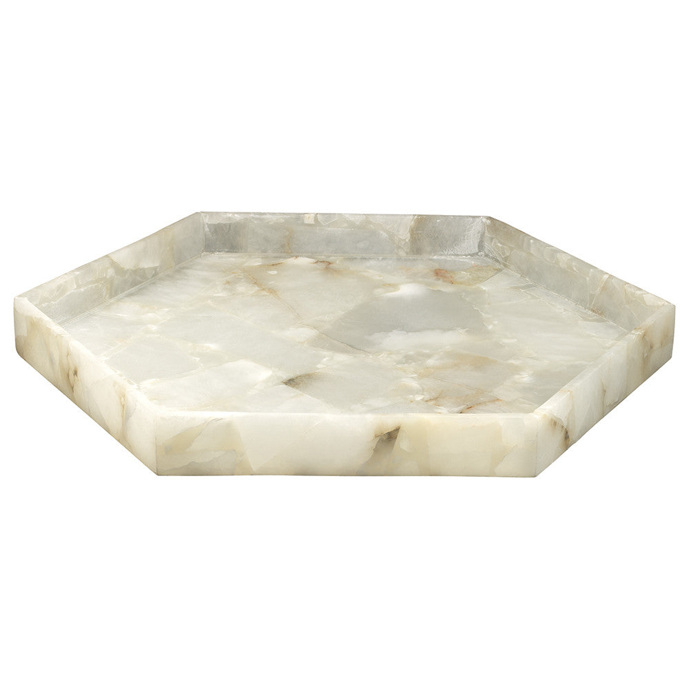 Large Alabaster Decorative Tray