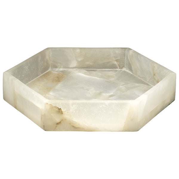 Small Alabaster Decorative Tray