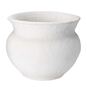 Hand Crafted Ceramic Cauldron - White