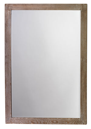 Austere Simple Rectangle Mirror in Grey Washed Wood