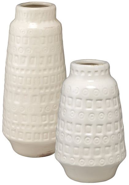 Coco Vessels in White Ceramic (Set of 2)