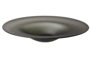 Cordelia Hand Blown Glass Plate in Matte Grey Glass