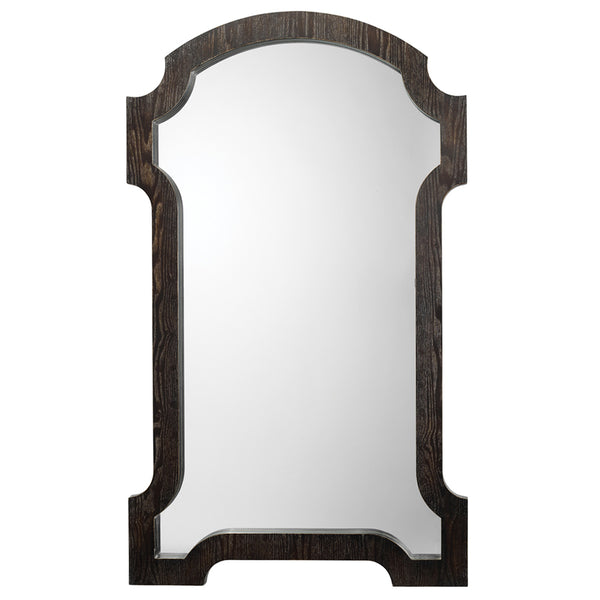 Large Wooden Estate Mirror – Dark Grey