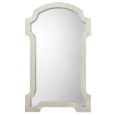 Large Wooden Estate Mirror – Light Grey Wash