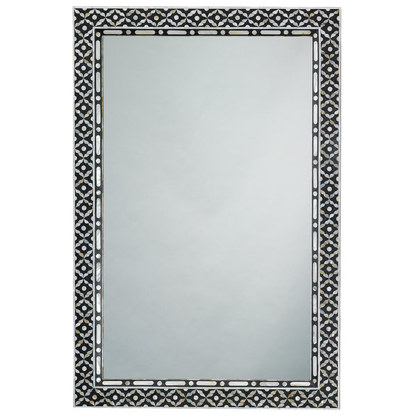 Rectangular Mother of Pearl Inlay Mirror