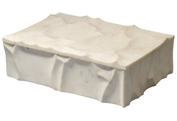 Everest Marble Box in White Marble