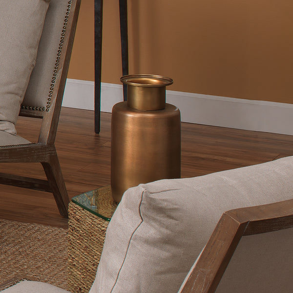 Hera Vase in Antique Brass