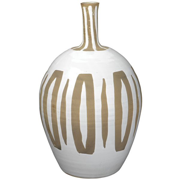 Hand-Crafted White Ceramic Vase