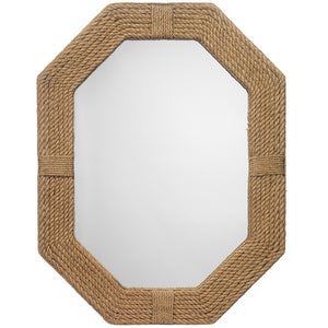 Natural Jute Rope Octagonal Mirror